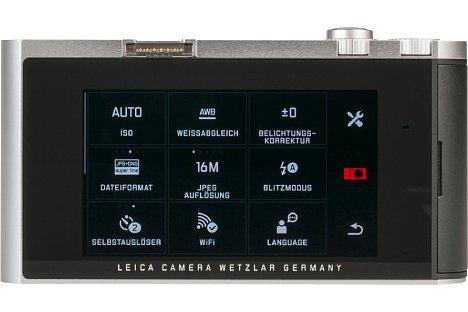Bild Auch bei der Bedienung über den großen Touchscreen und beim Menü-Design dürfte die hier gezeigte Leica T für Yi Technology eine Quelle der Inspiration gewesen sein. ;-). [Foto: MediaNord]
