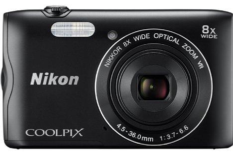 Bild Die 180 Euro teure Nikon Coolpix A300 kombiniert ein optisches 8-fach-Zoom mit 20 Megapixeln Auflösung in einem 20 Millimeter flachen Gehäuse. [Foto: Nikon]