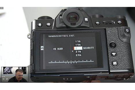 Bild Screenshot aus dem Fujifilm-Fortgeschrittenen-Schulungsvideo, hier mit der Fujifilm X-T30. [Foto: MediaNord]