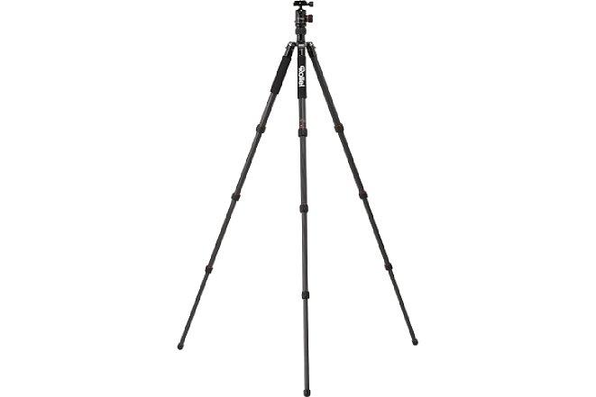 Bild Das Rollei C5i lässt sich auf maximal 157,5 cm Arbeitshöhe bringen. [Foto: Rollei]