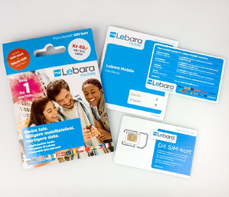Bild Bei Lebara Mobil (in Dänemark) sind die Produktinformationen auch in Englisch, und auch die Ansage des Restguthabens lässt sich auf Englisch umschalten. [Foto: MediaNord]