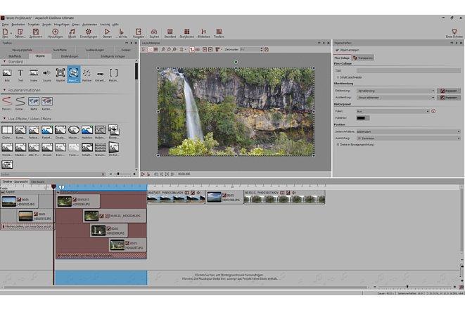 Bild Die Arbeitsfläche von DiaShow 10 Ultimate ist klar strukturiert und wirkt sehr aufgeräumt. [Foto: MediaNord]