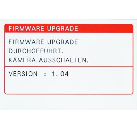 Bild Nach abgeschlossener Firmware-Aktualisierung muss man die Kamera ausschalten. [Foto: MediaNord]