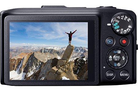 Bild Auch ein WLAN-Modul ist in der Canon PowerShot SX280HS integriert. Es erlaubt den Upload der Bilder ins Internet oder die Übertragung zu Smartphone, Tablet und PC. [Foto: Canon]
