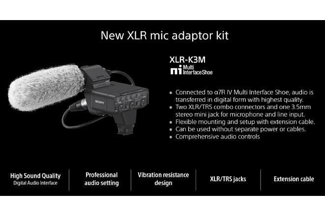 Bild WeitereDetails zum neuen Digitalmikrofonfür die Sony Alpha 7R IV aus der Live-Präsentation von Sony. [Foto: Sony]