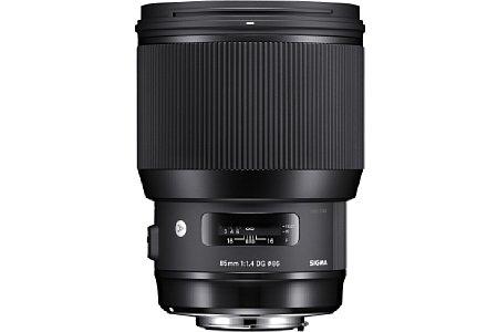 Bild Das Sigma 85 mm F1.4 DG HSM Art besitzt wie alle vorgestellten Objektive ein Messingbajonett. [Foto: Sigma]