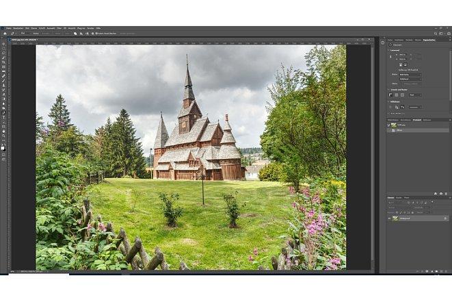 Bild Nach dem Öffnen des Bildes in Photoshop navigieren Sie einfach zur Ebenenpalette rechts unten. [Foto: MediaNord]