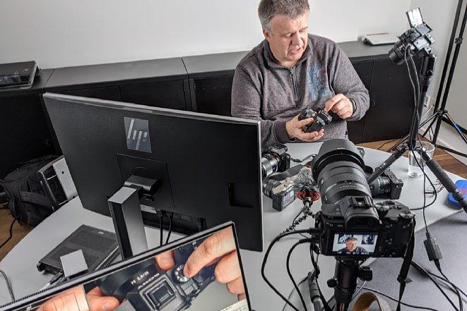 Bild Ernst Ulrich Soja während der Produktion des Sony Einsteiger-Videos. [Foto: MediaNord]