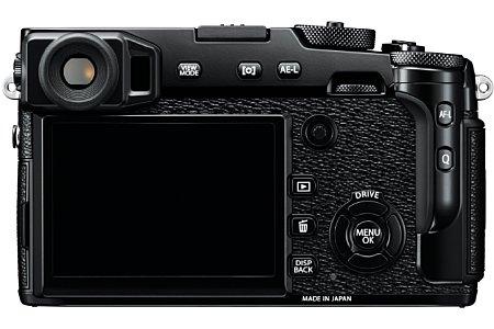 Bild Der rückwärtige 7,6-Zentimeter-Bildschirm der Fujifilm X-Pro2 löst mit 1,62 Millionen Bildpunkten äußerst fein auf. Der elektronische Teil des Suchers bringt es aber sogar auf 2,36 Millionen Bildpunkte Auflösung. [Foto: Fujifilm]