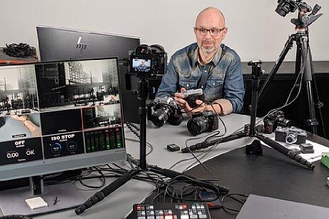 "Bild Peter Fauland beim Videodreh zum Schulungsvideo ""Das Fujifilm X-System"". [Foto: Imaging One]"