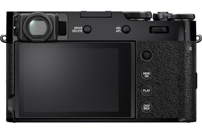 Bild Die Fujifilm X100V soll nicht nur in Silber-Schwarz, sondern auch in Schwarz erhältlich sein. [Foto: Fujifilm]