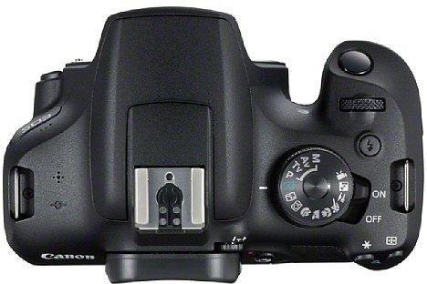 Bild Die Canon EOS 2000D hingegen verfügt über einen richtigen Schalter zum An- und Ausschalten. So verbleibt das Programmwählrad in der zuletzt benutzen Position. [Foto: Canon]