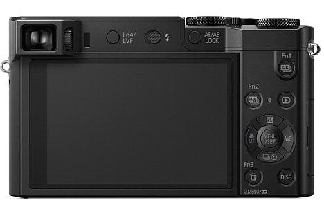 Bild Neben dem 7,5 Zentimeter großen Touchscreen mit einer Million Bildpunkten Auflösung bietet die Panasonic Lumix DMC-TZ101 auch einen per Augsensor aktivierbaren elektronischen Sucher mit 0,46-facher Vergrößerung und 1,2 Millionen Bildpunkten Auflösung. [Foto: Panasonic]
