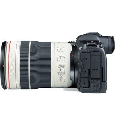 Bild Das Canon RF 70-200 mm F4L IS USM bietet drei Einstellringe und insgesamt fünf Schalter, womit sich Zoom, Bildstabilisator, Fokus und noch mehr sehr ergonomisch steuern lassen. [Foto: MediaNord]