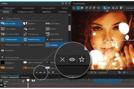 Bild Mit der Suchfunktion lassen sich Effekte in der Toolbox schnell und einfach auffinden. [Foto: Aquasoft]