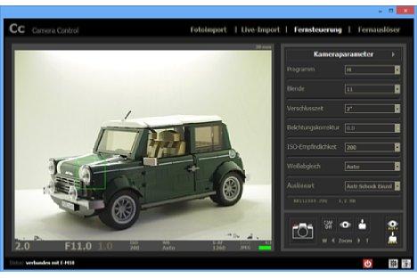 Bild Fernsteuerung mittels Camera Control mit Livebild und Parametereinstellung. [Foto: MediaNord]