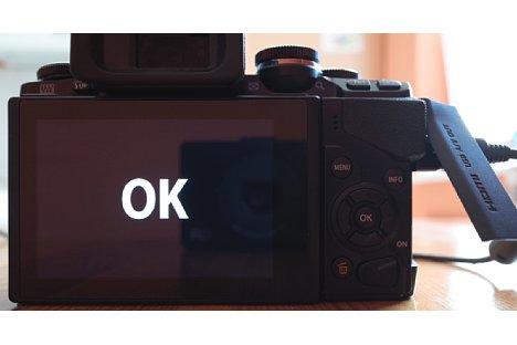 Bild Anzeige auf dem Bildschirm der Olympus OM-D E-M10 nach dem erfolgten Firmwareupdate. [Foto: MediaNord]
