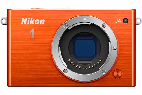 Bild Nikon 1 J4 in Orange, ohne Objektiv. [Foto: Nikon]
