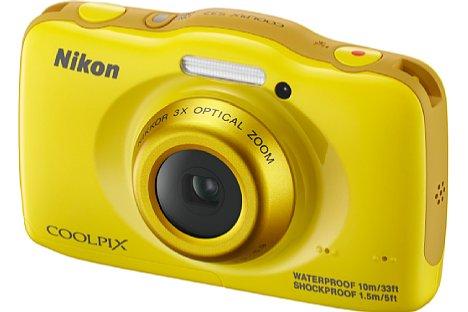 Bild ... und in gelb. 110 EUR soll die Nikon Coolpix S32 etwa kosten. [Foto: Nikon]