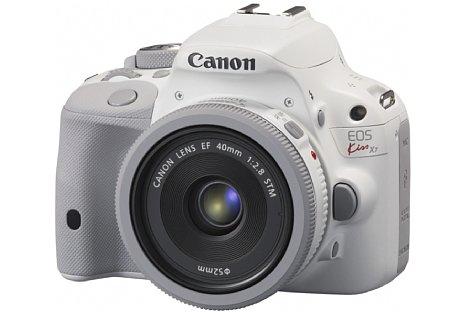 Bild Als Canon Kiss X7 White kam die EOS 100D bereits im November 2013 auf den japanischen Markt. [Foto: Canon]