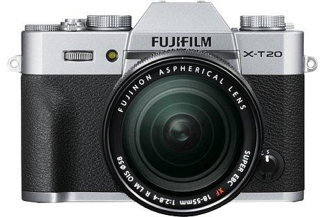 Bild Die Fujifilm X-T20 soll es alternativ auch in Silber-Schwarz geben. [Foto: Fujifilm]