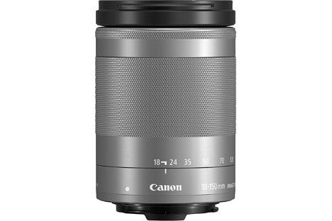 Bild Das Canon EF-M 18-150 mm 3.5-6.3 IS STM ist das siebte EF-M-Objektiv und soll ab November 2016 in Silber und Schwarz zu einem Preis von knapp 500 Euro erhältlich sein. [Foto: Canon]