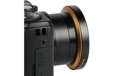 Bild In der Rückseite des Kenko One-Touch Filters ist ein Magnet eingebaut, welcher dafür sorgt, dass der Filter nicht herunterfällt und drehbar bleibt. [Foto: MediaNord]