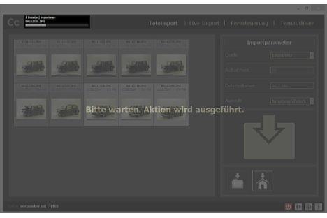 Bild Während der Übertragung lässt sich Camera Control nicht bedienen. Bei der Kamerafernsteuerung gibt es aber auch eine Funktion zur Hintergrund-Bilderübertragung. [Foto: MediaNord]