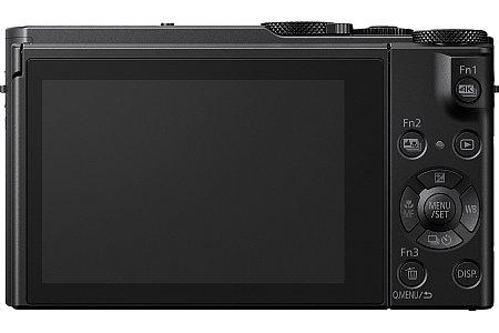Bild Auf der Rückseite besitzt die Panasonic Lumix DMC-LX15 einen 7,5 Zentimeter großen Touchscreen, der sich nach oben und unten klappen lässt. [Foto: Panasonic]