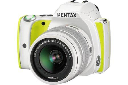 Bild Die Pentax K-S1 in Limettengrün-Weiß hört auf den leckeren Namen Lime Pie. [Foto: Ricoh]
