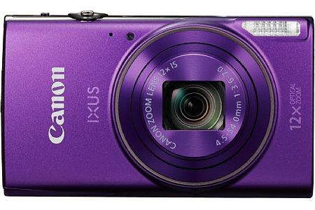 Bild ... in Violett. Knapp 210 Euro soll die Canon Ixus 285 HS kosten und schon im Januar 2016 erhältlich sein. [Foto: Canon]