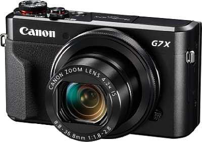 """Die Canon PowerShot G7 X Mark II vereint im kompakten, nun mit einem kleinen Handgriff ausgestatteten Gehäuse einen 20 Megapixel auflösenden 1""""-Sensor mit einem F1,8-2,8 lichtstarken 24-100mm-Zoom. [Foto: Canon]"""
