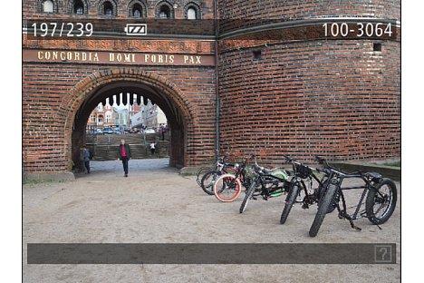 Bild In der Bildwiedergabe erlaubt die Canon PowerShot G7 X neben der reinen Bildansicht, wie hier zu sehen, auch die Anzeige von Aufnahmedetails oder das Zoomen ins Bild. [Foto: MediaNord]