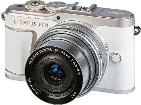 Bild Die Olympus Pen E-PL10 ist eine sehr stylische Einsteiger-Systemkamera, vor allem in der von uns getesteten Farbe. [Foto: MediaNord]