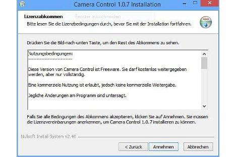Bild Camera Control für Olympus ist Freeware. [Foto: MediaNord]