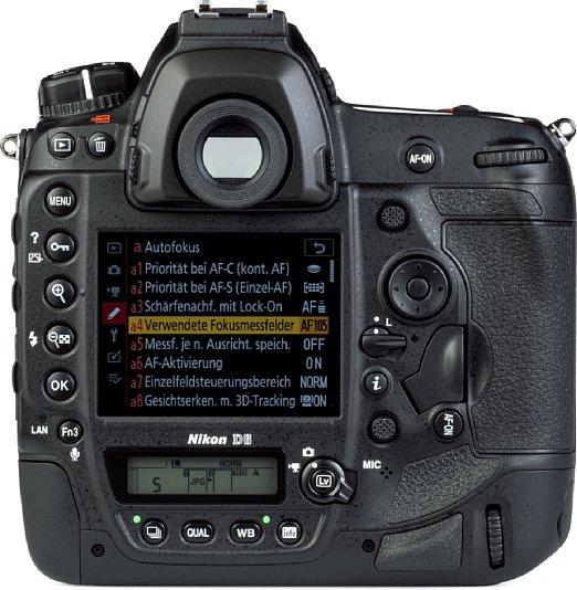 Bild Die Nikon D6 verfügt nicht nur über einen großen Spiegelreflexsucher, sondern auch über einen üppigen, fein auflösenden Touchscreen sowie über zwei Statusdisplays (eines auf der Oberseite). [Foto: MediaNord]