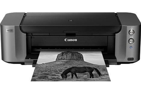 Bild Der Chroma Opimizer sorgt beim Canon Pixma Pro-10S für ein besonders einheitlich glänzendes Finish. [Foto: Canon]