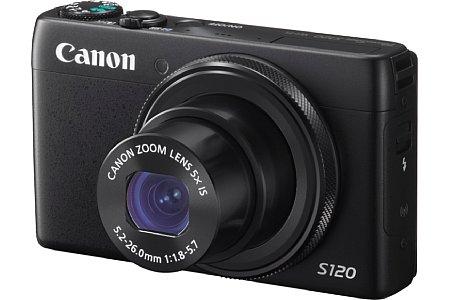 Bild Auch bei der Canon PowerShot S120 fanden die meisten Änderungen unter der Haube statt. Der DIGIC 6 sorgt für einen 50 Prozent schnelleren Autofokus und eine hohe Serienbildrate. [Foto: Canon]