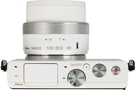 Bild Das Moduswahlrad der Nikon 1 J4 ist eher dünn besiedelt. Die PASM-Programme findet man etwas verschachtelt im Kreativmodus. [Foto: MediaNord]