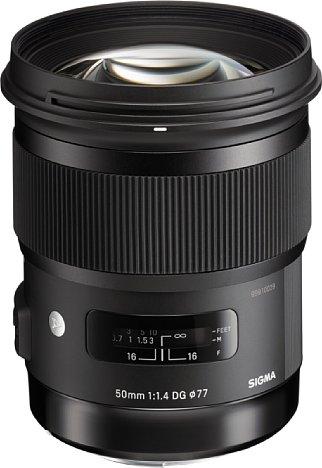 Bild Das Sigma A 50 mm F1,4 DG HSM begründete eine neue, hochwertige Festbrennweiten-Objektivserie, die mit ihrer aufwändigen optischen Konstruktion eine hervorragende Bildqualität bieten will. [Foto: Sigma]