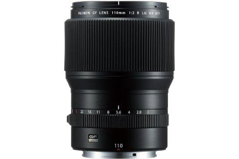 Bild Zwei ED-Elemente jeweils vor und hinter der neunlamelligen Blende sollen beim Fujifilm GF 110 mm F2 LM WR asphärische und chromatische Aberrationen korrigieren. [Foto: Fujifilm]