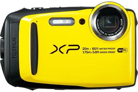Bild Die Fujifilm FinePix XP120 soll ab Ende Januar 2017 in den Farben Gelb (wie hier zu sehen), Blau und Eisblau erhältlich sein. [Foto: Fujifilm]
