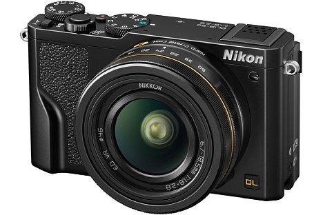 Bild Die Nikon DL18-50 f/1.8-2.8. bietet ein einzigartig weitwinkliges wie auch lichtstarkes Objektiv. Die Nanokristallvergütung soll Geisterbilder verhindern. [Foto: Nikon]