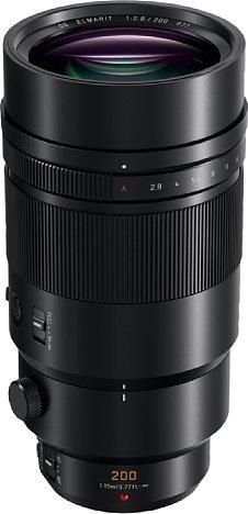 Bild Das Gehäuse des fast 1,3 Kilogramm schweren Panasonic Leica DG Elmarit 200 mm 2.8 Power OIS besteht komplett aus Metall und ist gegen Staub und Spritzwasser geschützt. [Foto: Panasonic]