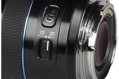 Bild Der 2D/3D Schalter ändert den Betriebsmodus der montieren Kamera. [Foto: MediaNord]