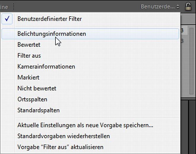 Bild Mit einem Klick auf das rechte Listenfeld kann die Filterfunktion erweitert werden. [Foto: Markt+Technik]