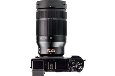 Bild Weiß ausgelassene Gravuren erleichtern beimPanasonic Leica DG Vario-Elmarit 50-200 mm F2.8-4 Asph. OIS die Einstellung der populärsten Brennweiten. [Foto: MediaNord]