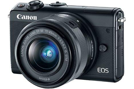 Bild Mit 108 x 67 x 35 mm fällt die Canon EOS M100 äußert kompakt aus, zudem wiegt sie, ohne Objektiv, nur knapp über 300 Gramm. [Foto: Canon]