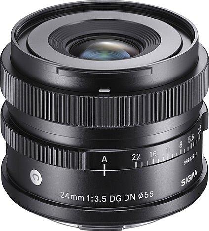 Bild Durch die recht kleine Frontlinse ist die Lichtstärke des Sigma 24 mm F3.5 DG DN Contemporary eher moderat. [Foto: Sigma]