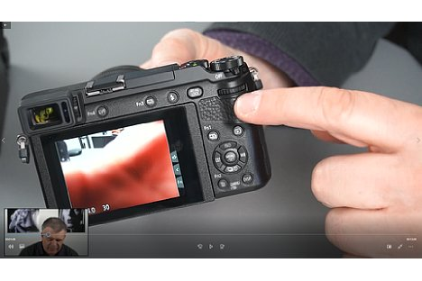 Bild Screenshot aus dem Panasonic-Fortgeschrittenen-Schulungsvideo, hier mit der Panasonic Lumix GX80. [Foto: MediaNord]